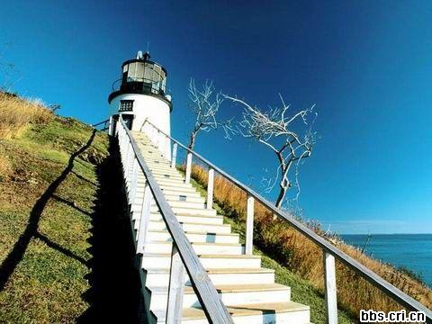 360壁纸海堤灯塔