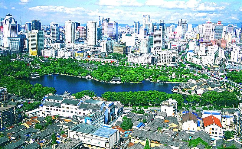 图2:宁波城区鸟瞰. (  摄) -大桥经济时代 的沪甬 双城记