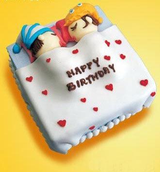卡通 生日蛋糕/超级可爱的卡通生日蛋糕