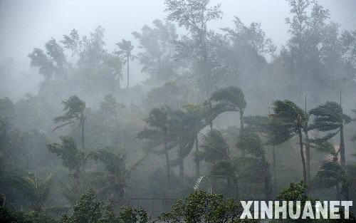 """2008年9月24日 台风""""黑格比""""登陆广东 湛江风雨交加 9月24日晨,"""