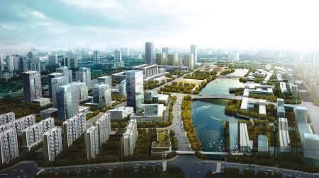 即建设以镇海新城为依托的宁波中心城区北部商贸商务中心,以镇海老城