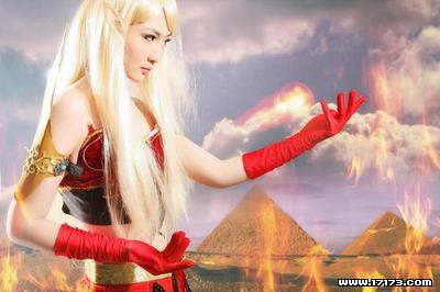 魔兽世界玩家美女cos血精灵
