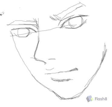 n式漫画鼠标涂鸦画人物简单教程
