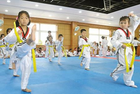 宁波第二届新邑杯幼小男跆拳道父亲赛举行-跆拳道