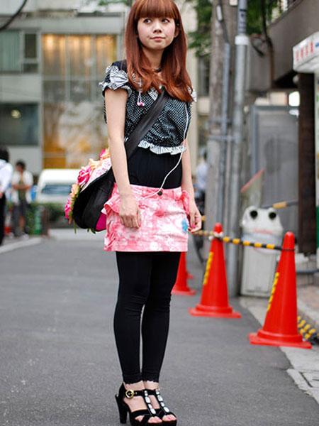 日本街头美女潮流一族混搭组图