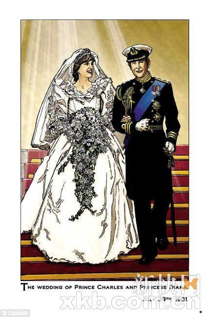 戴安娜王妃漫画在美热销 皇室家族再成热点