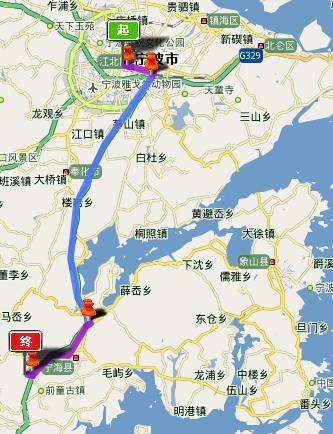 宁波风景区地图