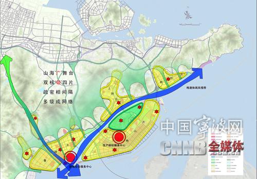 宁波滨海新城规划结构图-宁波滨海新城 努力打造全国海洋经济发展示