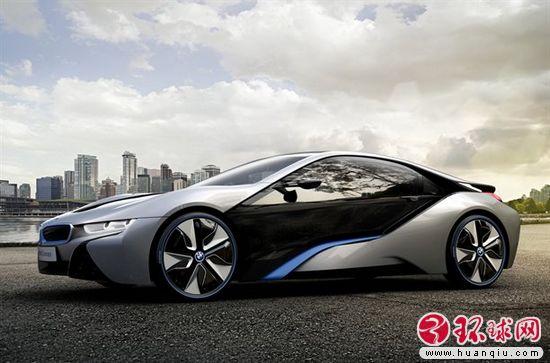 宝马i8混合动力跑车高清图片