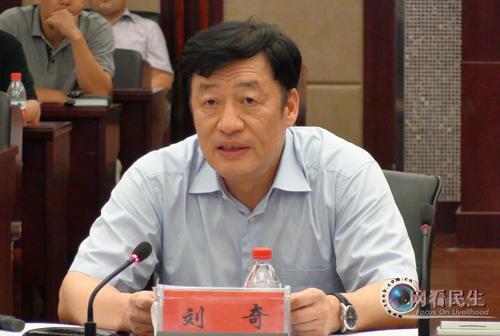 图为宁波市委副书记,市长刘奇动员和部署防台工作.