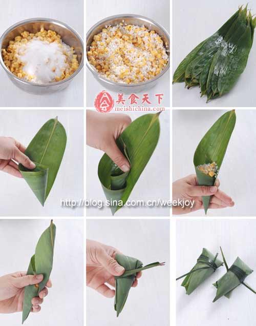 粽子大集锦-糯米,棕树,箬叶,包粽子,DIY,生抽-中