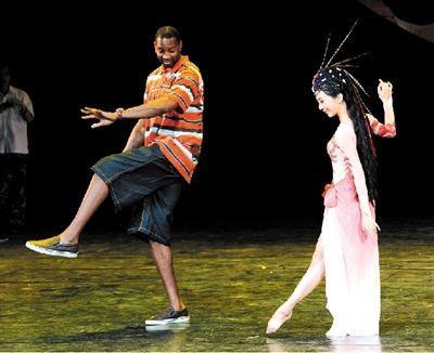 麦迪学习简单的舞蹈动作图片