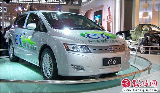 比亚迪纯电动车e6高清图片