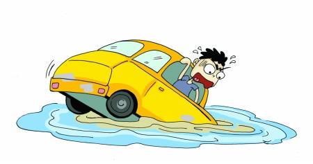 刚落水时,驾驶员可以立即打开车门,如果车辆有天窗还能选择从天窗逃生