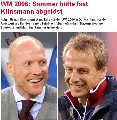 慕尼黑日报 萨默尔世界杯前几乎接过德国帅位