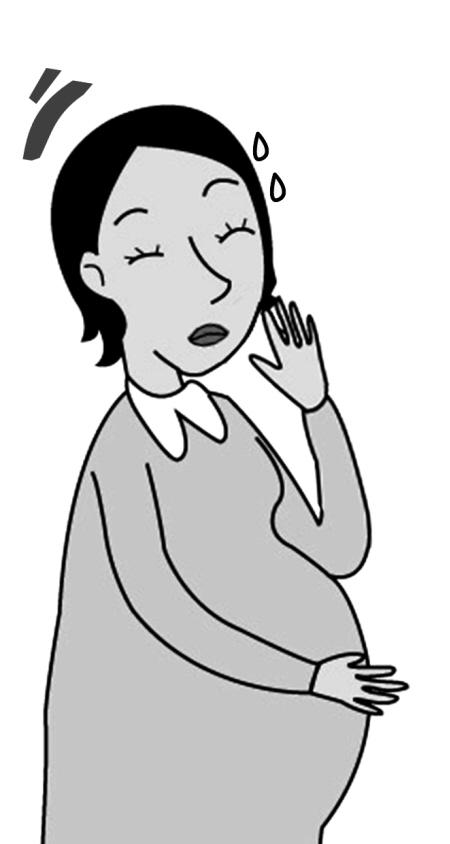 一手捂着大肚子,一手捂着半边脸医生提醒:怀孕前要对口腔进行一次全面图片