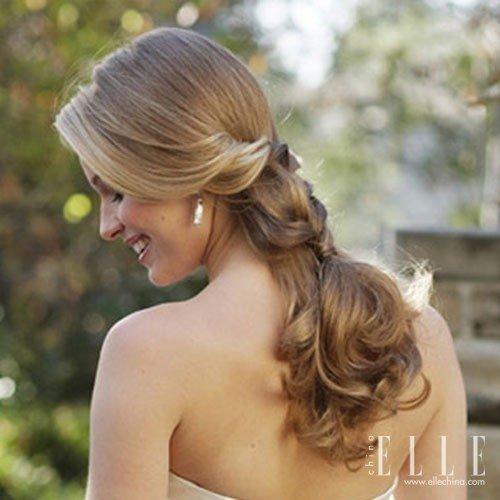 学最美欧式新娘盘发图片