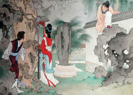 男女 古代/清明节期间,正是古代男女谈情说爱的好时节。