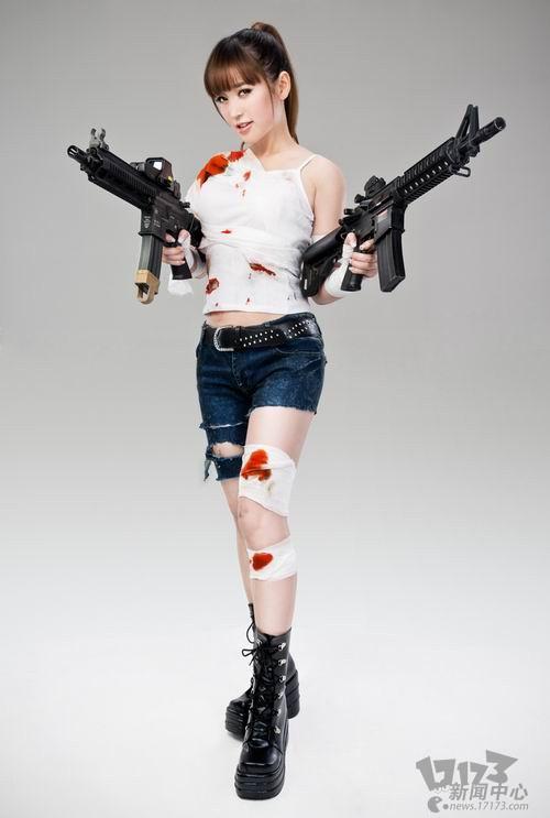 金莎代言《反恐行动》 游戏定妆造型独家曝光