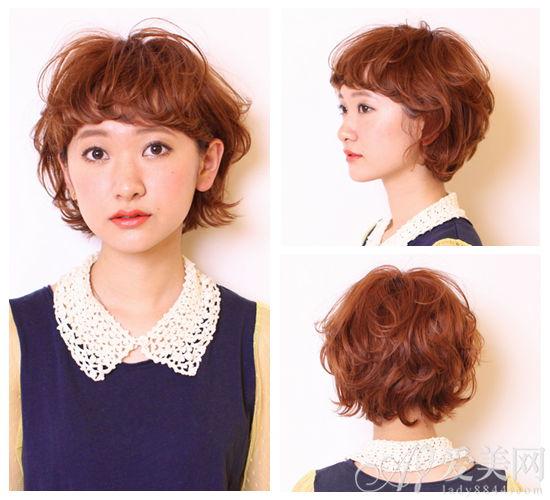 随性短发烫染发型-烫发染发型沙龙图片 沙龙总监染烫发型图片 2014最图片