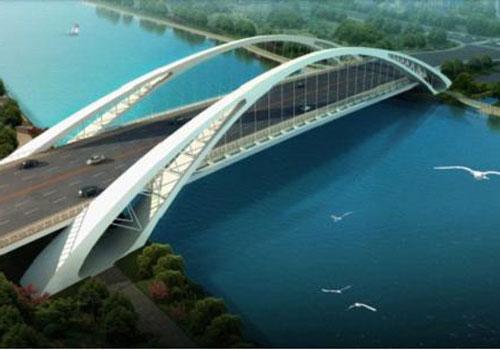 .澄浪桥是沟通宁波铁路南站枢纽和江东核心区的重要纽带.该方案设高清图片