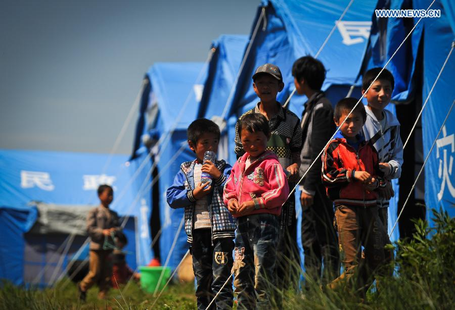 Children's life back to normal in quake-hit county, NW China