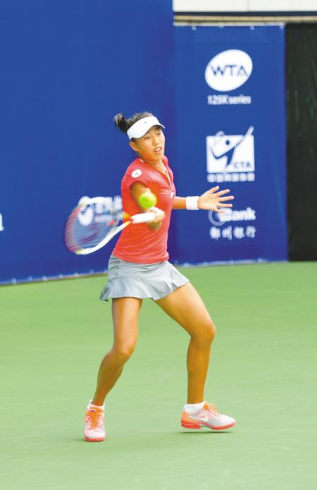 鄞州国际女子网球赛 小花张帅淘汰郑洁-中国