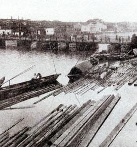 宁波最古老的大跨度浮桥