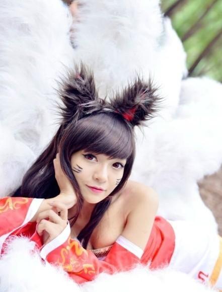 这才是小清新 英雄联盟九尾妖狐阿狸cos赏 c 高清图片