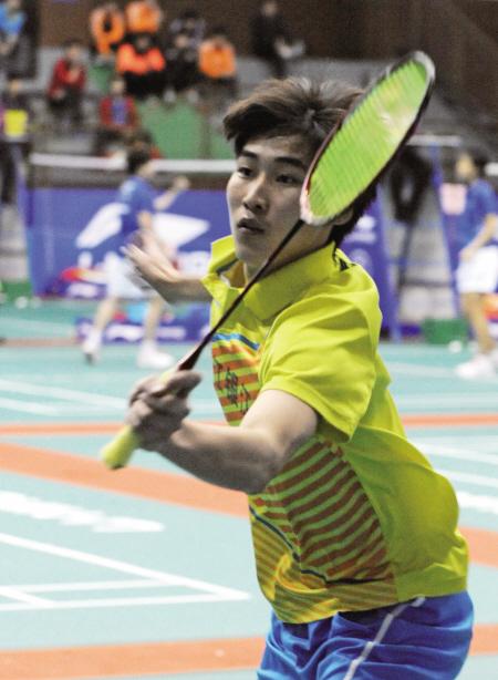 全国青少年羽毛球赛 宁波新星周昊东获一金一银