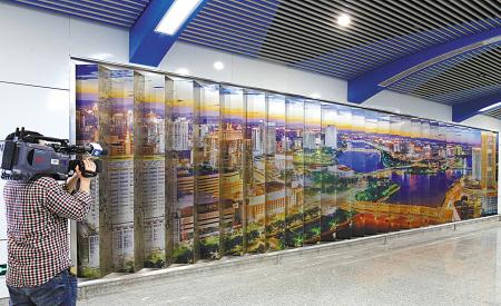 1号线一期6个车站文化墙亮相