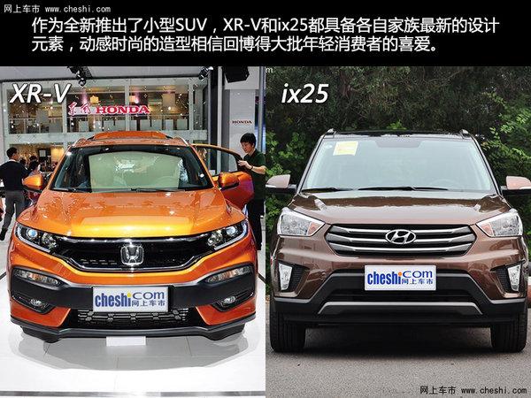 合资小型SUV之争 本田XR-V对比现代ix25