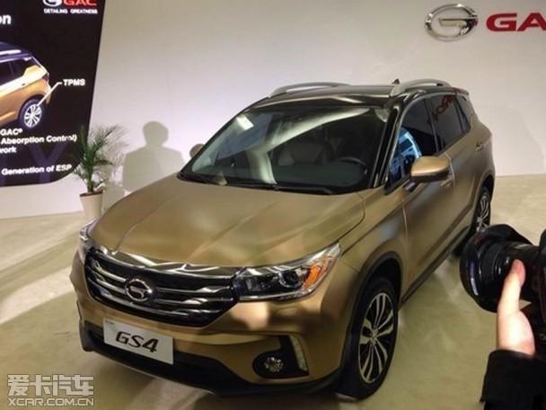 广汽传祺GS4量产版无伪谍照 4月份上市