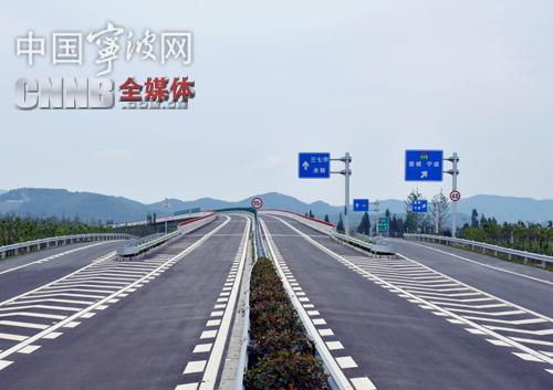 高速江北连接线南北向江北段17日通车