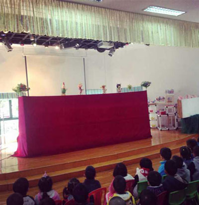 安全教育木偶戏走进国际村新悦幼儿园