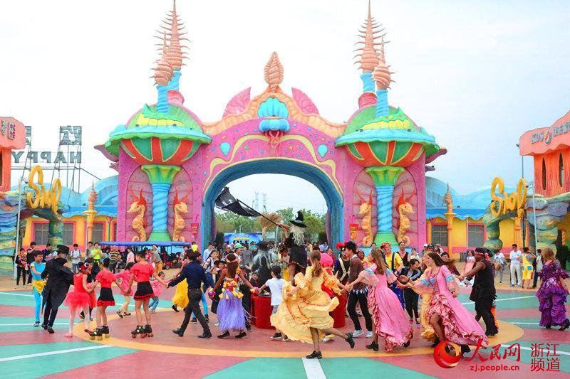 海洋魔幻全景乐园——海皮岛于日前在宁波杭州湾新区正式