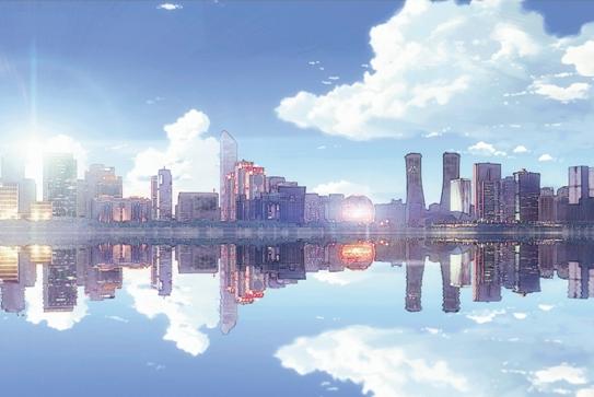 大学生把杭城漫画去势做成美景美翻了(图)-杭照片漫画图片