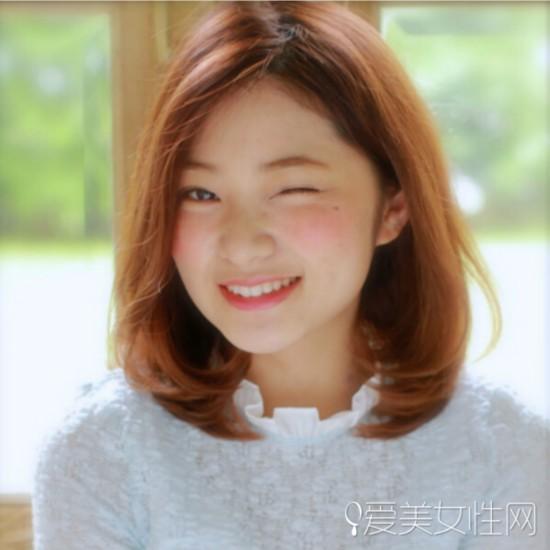 韩系齐肩披肩发塑造气质美女 齐肩 披肩发