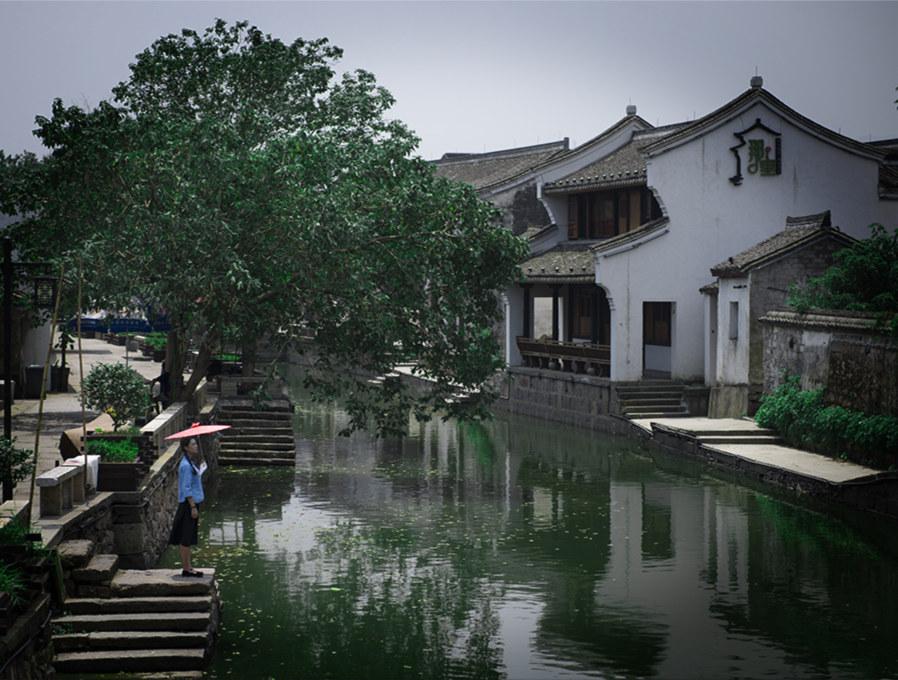 中国宁波网 旅游 玩转甬城 正文    鸣鹤生活 鸣鹤古镇有原住户,有老