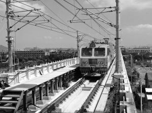 轨交1号线二期昨天开始不通电测试