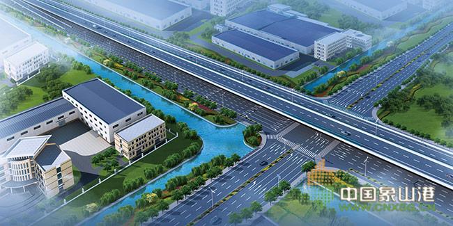 在石浦高速公路新桥连接线项目