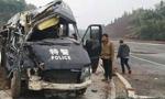 特警巡逻车与轿车相撞 特警2死7伤