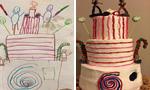 美国面包师按照图画 做出幻想中蛋糕
