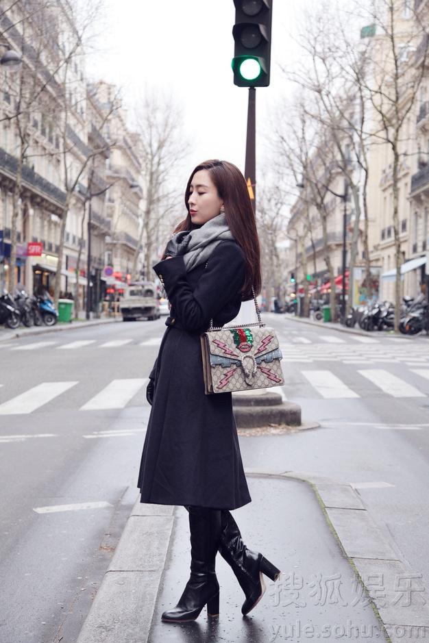 马苏曝光巴黎街拍照片