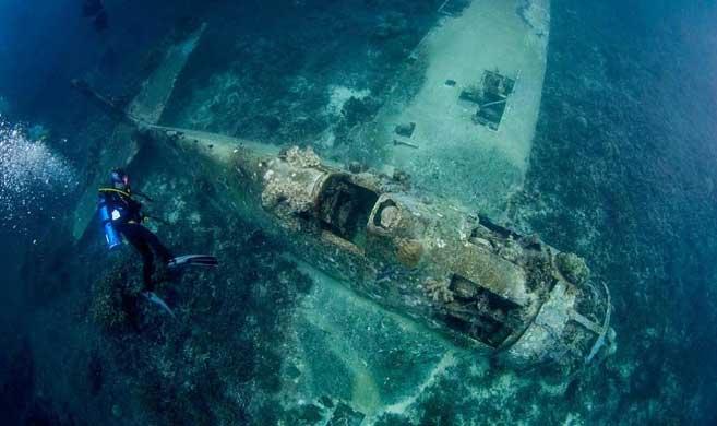 南太平洋海底发现二战军机