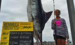 澳10岁女孩钓上147公斤重旗鱼破纪录