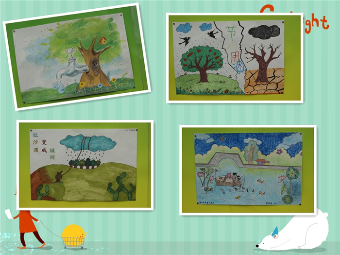 东钱湖中小举行世界水日主题绘画评比展示活动