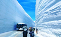 日本北阿尔卑斯山人车雪谷穿行