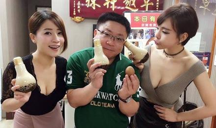 泰国女子卖灯泡奶茶走红