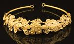 英国破纸盒中发现古希腊纯金桂冠